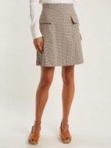 SEE BY CHLOÉ Checked flap pocket mini skirt ~ vintage look