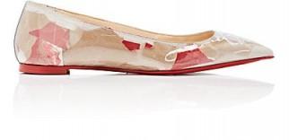 CHRISTIAN LOUBOUTIN Ballalla PVC Flats ~ logo printed ballerinas