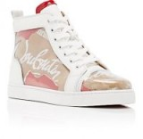 CHRISTIAN LOUBOUTIN Louis Woman Flat PVC Sneakers ~ plastic overlay high-top trainers