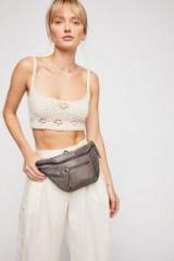 Cut n Paste City Distressed Belt Bag Grey | leather bum bags