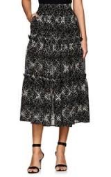 CO Floral Wool Gauze Midi-Skirt / feminine tiers