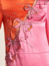 GUCCI Crystal and bow-embellished silk-satin gown ~ beautiful details