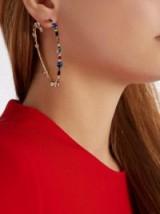 VALENTINO Crystal hoop spiral earrings