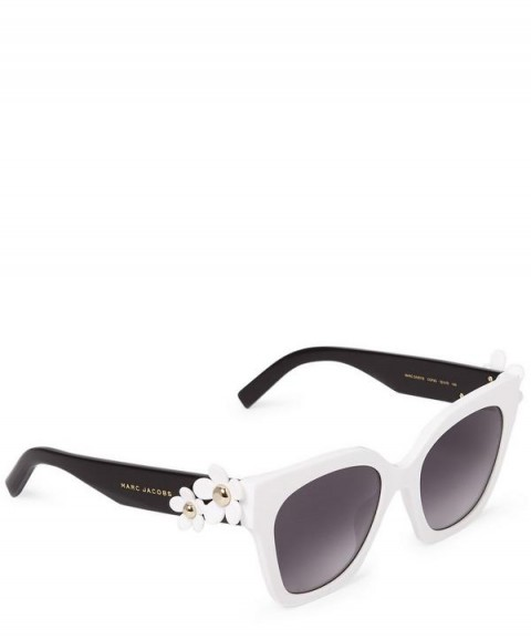 MARC JACOBS Daisy Square Sunglasses / monochrome eyewear