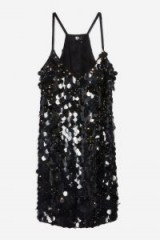 TOPSHOP Disc Sequin Slip Dress in Black – embellished cami