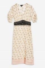 Topshop Embellished Waist Midi Dress | floral summer frocks
