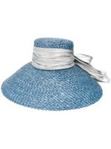 EUGENIA KIM Mirabel hat ~ chic vacation accessory ~ blue straw