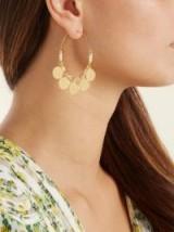 ELISE TSIKIS Felli Craie coin-embellished hoop earrings ~ statement hoops