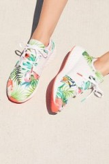 New Balance Floral Cruz Trainer | tropical print sneakers