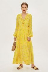 Topshop Yellow Floral Maxi Dress
