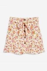 Topshop Floral Tie Button Skirt | cute summer mini