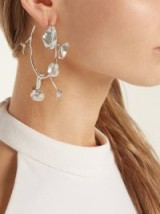 RYAN STORER Flores Muertas silver-plated hoop earrings