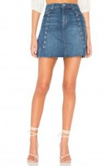 7 For All Mankind SKIRT WITH ARCHITECTURE SEAMS Saguaro 2 | denim eyelet A-line