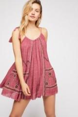 FP One Alaria Mini Dress in Berry | floaty sundress