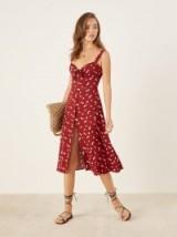 Reformation Frankfort Dress Angeles | red front tie summer frocks