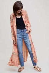 Second Female Frappo Printed Kimono at Anthropologie | long pink floral robes