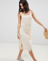Free People In Your Arms Midi Dress in Rose – pale pink summer dresses