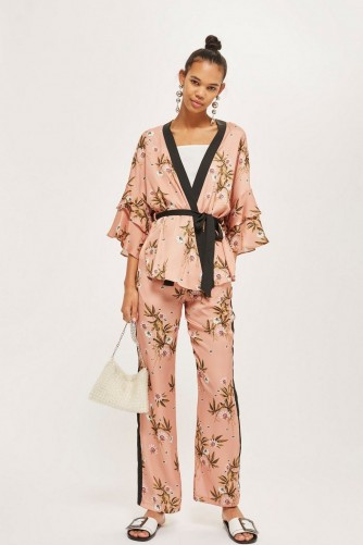 TOPSHOP Frill Sleeve Kimono and Wide Leg Trousers Set – summer outfits – oriental style fashion