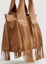 MANGO Fringe leather bag | boho accessory