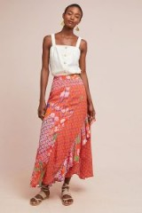 Maeve – Ginza Ruffled Maxi Skirt at Anthropologie | summer fashion
