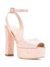 GIUSEPPE ZANOTTI DESIGN Betty sandals in Rosa – pink glitter platforms