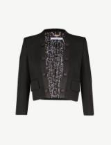 GIVENCHY Cropped wool tuxedo jacket ~ chic designer evening wear