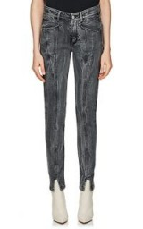GIVENCHY Skinny charcoal washed front split hem Jeans