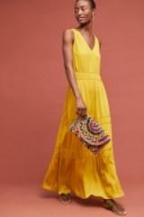 Dolan Left Coast Goldenrod Maxi Dress in gold | summer event fashion