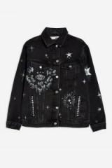 Topshop Hand-Painted Denim Jacket