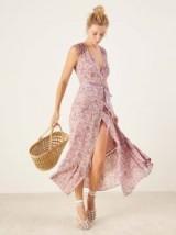 Reformation Haven Dress Carol | floral ankle length summer frock | wrap design