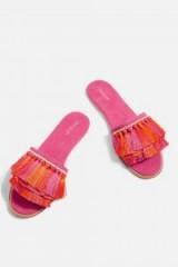Topshop Heather Tassel Sandals | pink boho flats