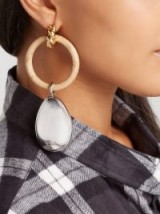 BALENCIAGA Hoop and pendant earrings ~ statement accessory