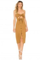 House of Harlow 1960 X REVOLVE COLETTE DRESS Toffee | strapless bandeau style | summer look