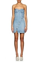 JEAN ATELIER Claudia Denim Bustier Dress ~ strapless dresses