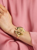 PATCHARAVIPA 18kt gold and diamond split cuff / stunning sculptural jewellery