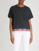 LEVI'S Logo-print cotton-jersey T-shirt / black short sleeved tees