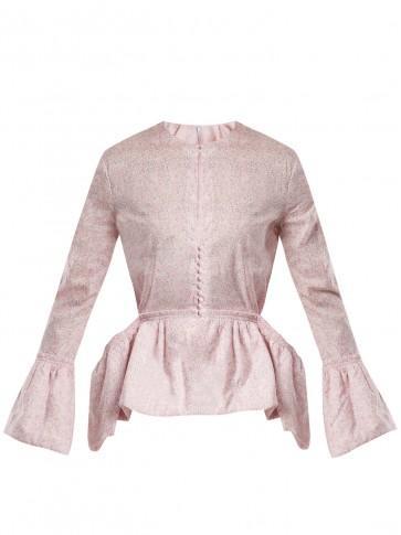 LOEWE Liberty-print peplum blouse / pink ditsy floral prints