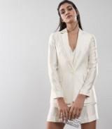 Reiss LILEA JACKET STRIPED BLAZER CHAMPAGNE ~ luxury style single breasted jackets