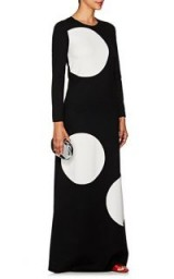 LISA PERRY Polka Dot Ponte Gown ~ long monochrome event wear