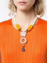 LIZZIE FORTUNATO JEWELS floral pendant necklace ~ statement necklaces
