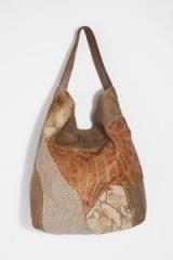 Free People Madeleine Distressed Bag Tortora | brown leather patchwork bags