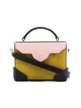 MANU ATELIER yellow and bubblegum Micro Bold suede cross-body bag ~ small colour block handbags