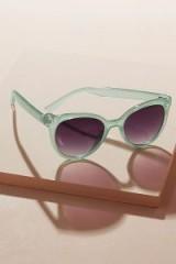 Anthropologie Marcie Sunglasses in mint | green retro eyewear | summer accessories