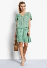 hush Marissa Lace Dress – Mini Floral Granite Green ~ summer dresses ~ everyday style