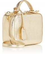 MARK CROSS Laura Baby Leather Camera Bag ~ metallic-gold ~ mini accessory