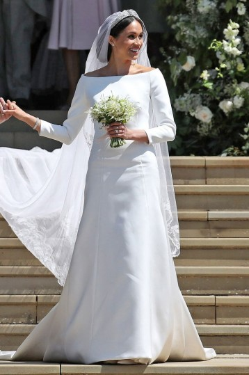 Meghan Markle's wedding dress was designed by Givenchy