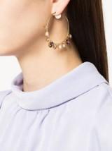 MELISSA KANDIYOTTI Maharadja earring ~ coloured crystal hoops