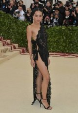 Zoe Kravitz dressed in Anthony Vaccarello for Saint Laurent at the Met Gala, May 2018 – celebrity – girl crush – glamour