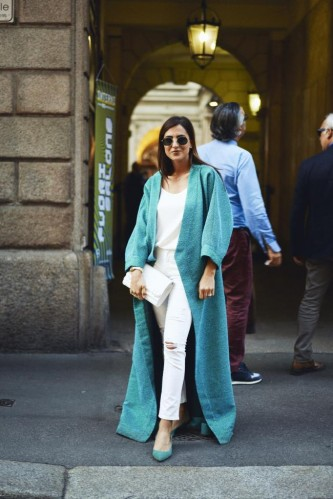 Street style at Milan Design Week 2018
