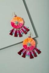 Mirda Tasselled Chandelier Earrings ~ vibrant statement jewellery